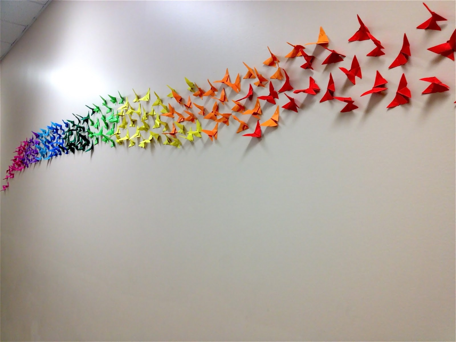 Origami Butterfly Rainbow Wall, 4Th & 5Th Grade (View 8 of 15)