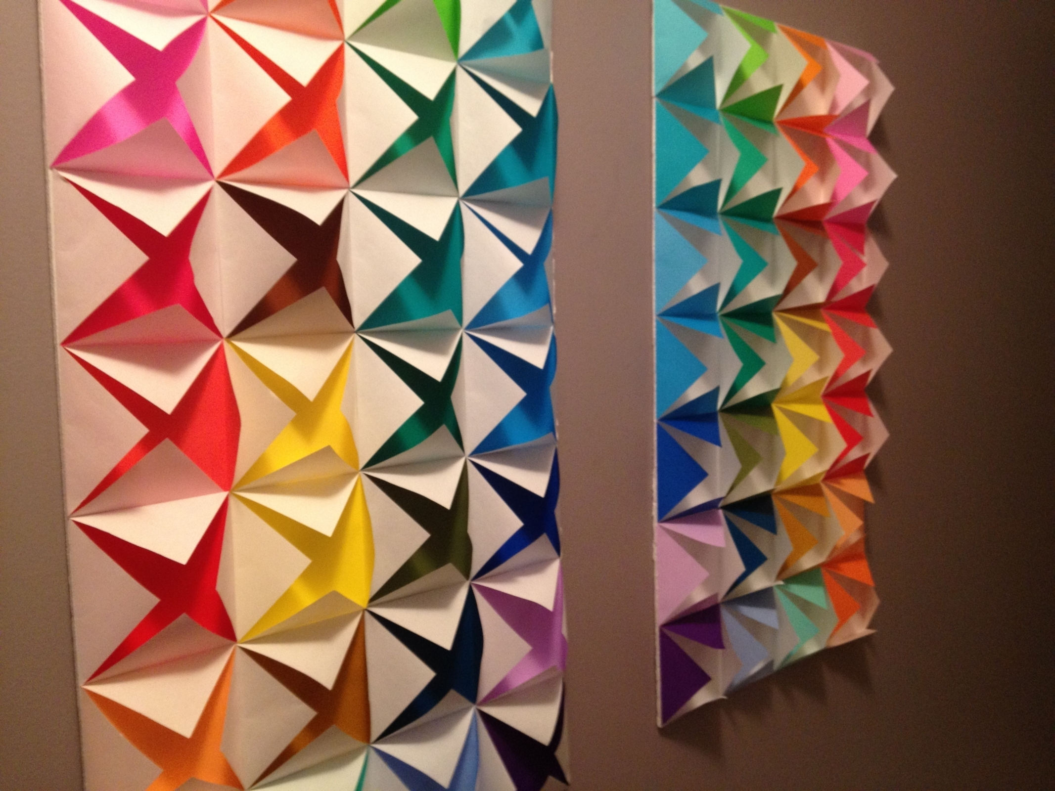 Origami, Walls Pertaining To 3D Wall Art With Paper (View 12 of 15)