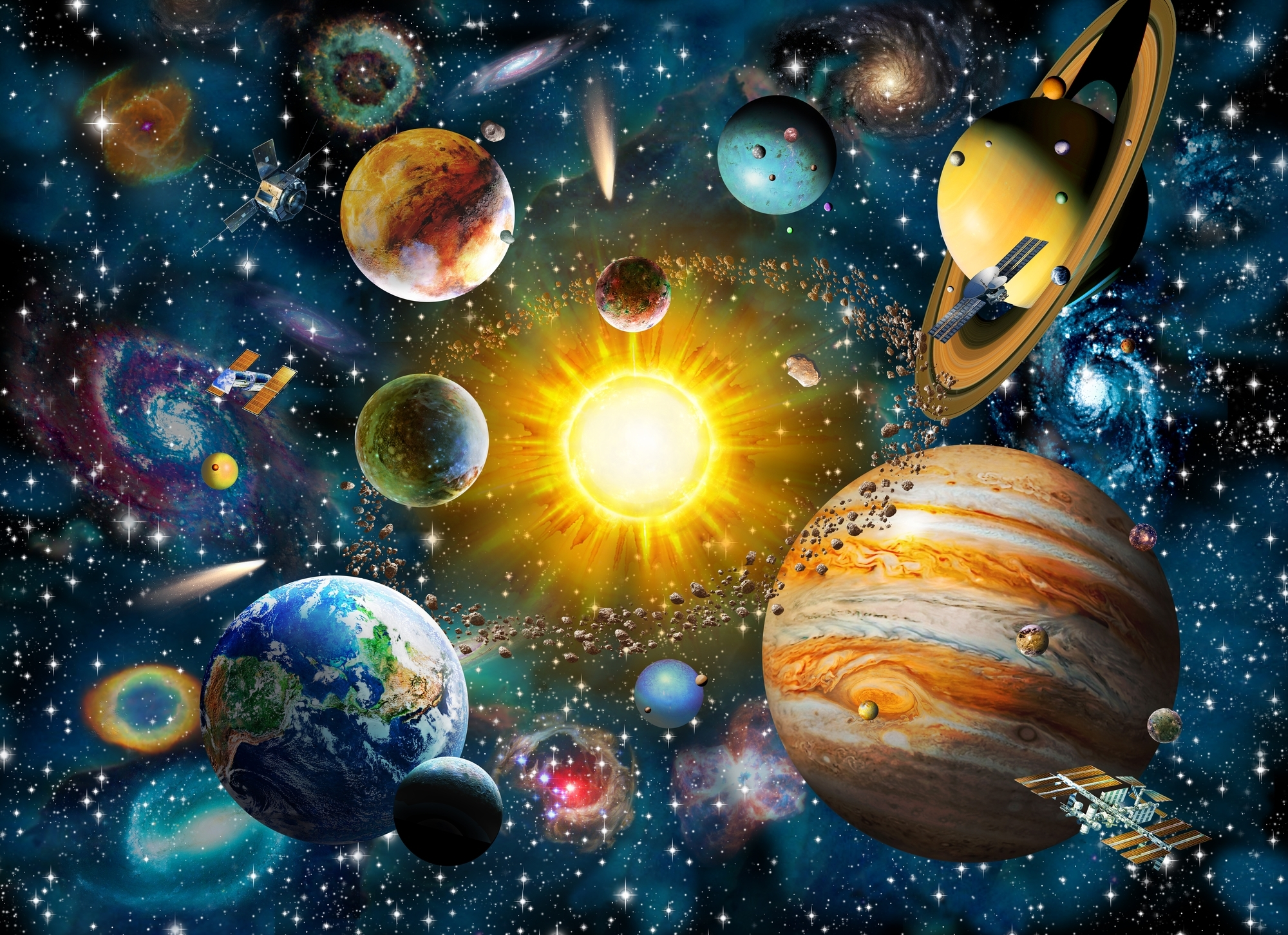 Our Solar System Wall Mural & Our Solar System Wallpaper Throughout Best And Newest Solar System Wall Art (View 6 of 15)