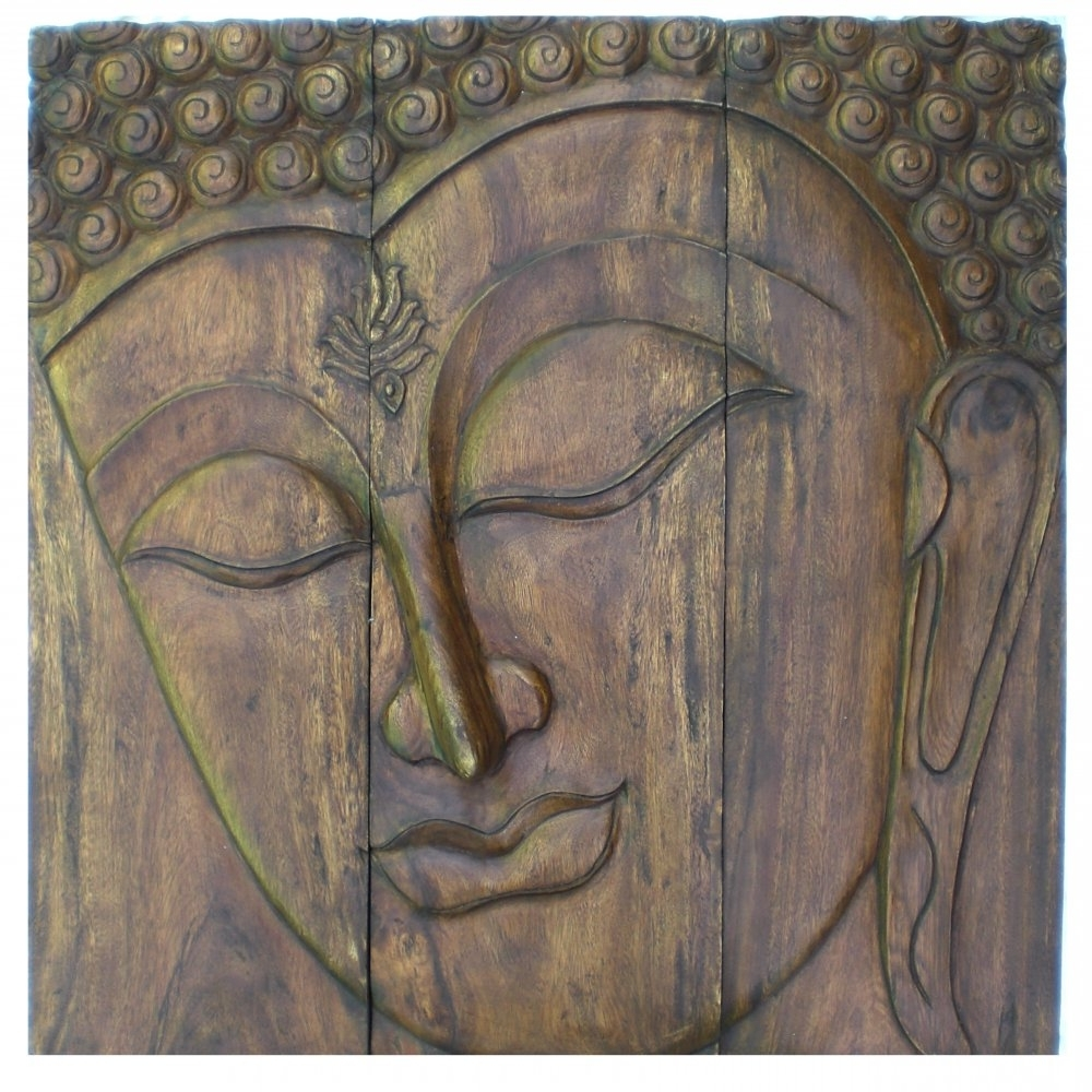 Outdoor Buddha Wall Art Throughout Widely Used Wall Art Designs: Best Buddha Wood Wall Art Buddha Wall Plaque (View 8 of 15)