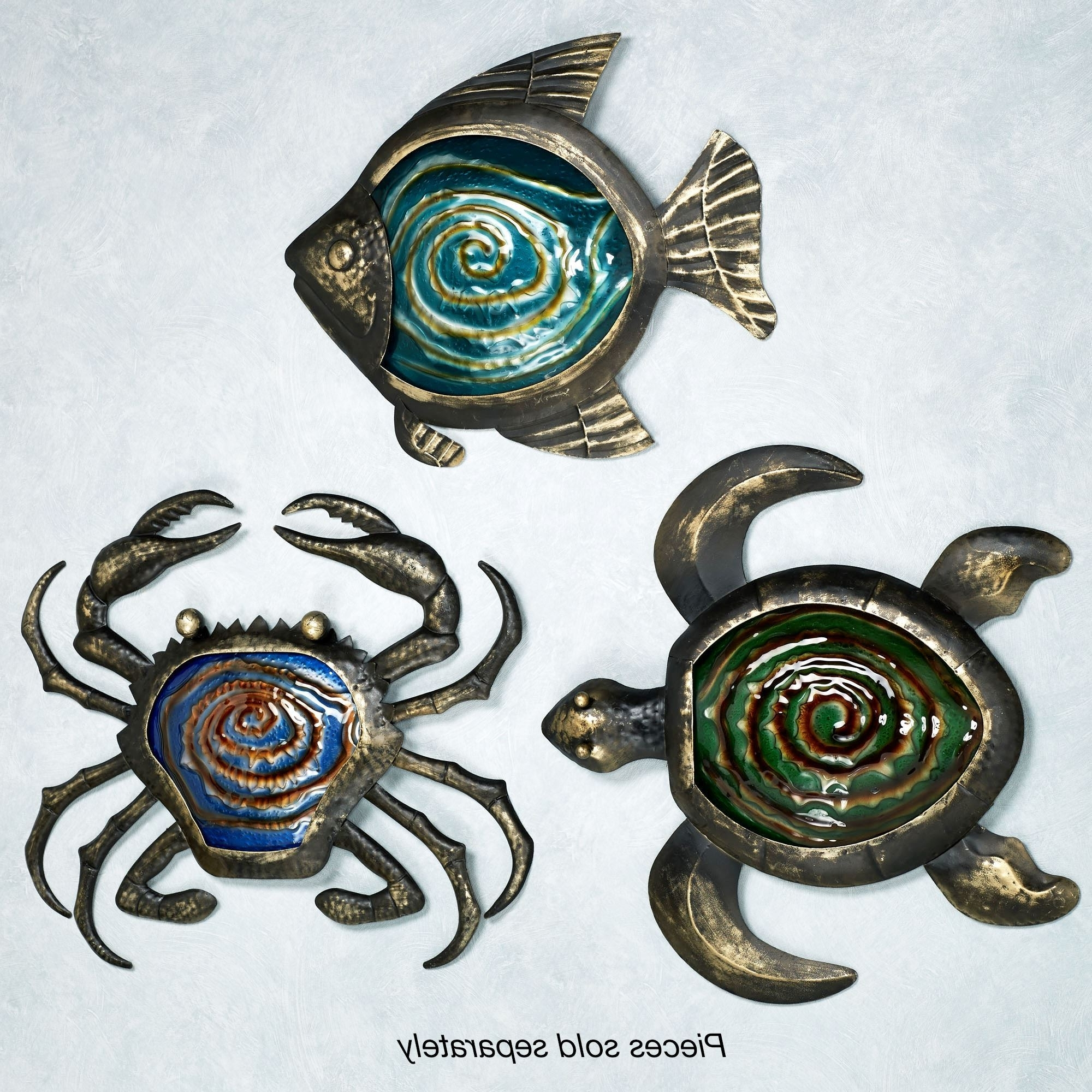 Outdoor Metal Turtle Wall Art In Well Known Sealife Indoor Outdoor Glass Metal Wall Art (View 8 of 15)