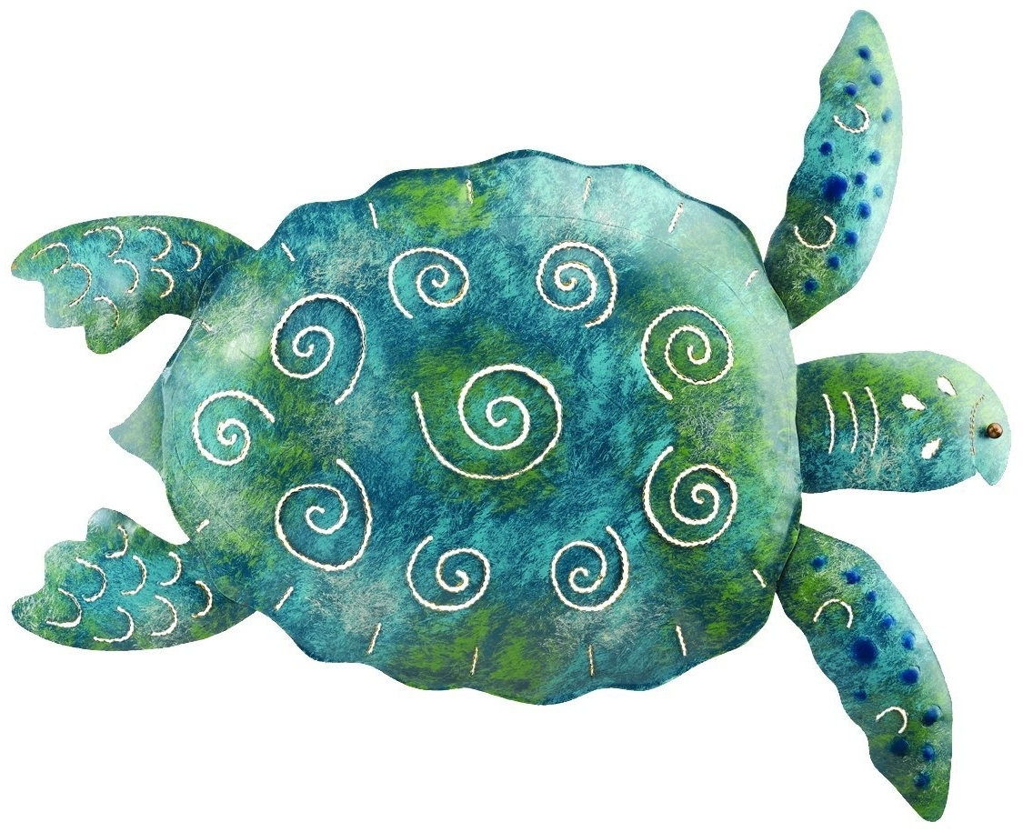 "Outdoor Metal Turtle Wall Art Pertaining To Widely Used Amazon : Regal Art &gift Sea Turtle Wall Decor, 20"" : Wall (View 6 of 15)"