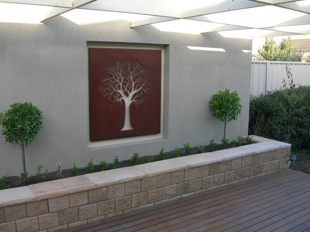 Outside Wall Art Pertaining To Trendy Wall Decor: Top 20 Decorative Outside Wall Ideas Outdoor Wall (Gallery 11 of 15)