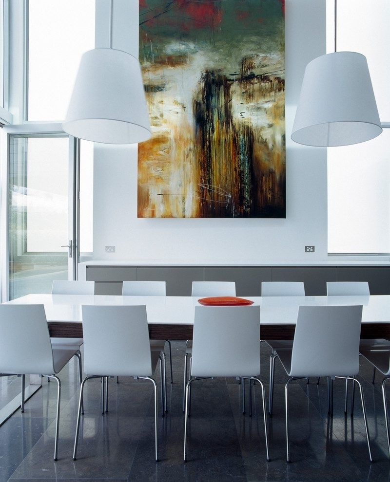 Oversized Art Dining Room Contemporary With Life Edge Dining Table Inside Popular Contemporary Oversized Wall Art (Gallery 13 of 15)