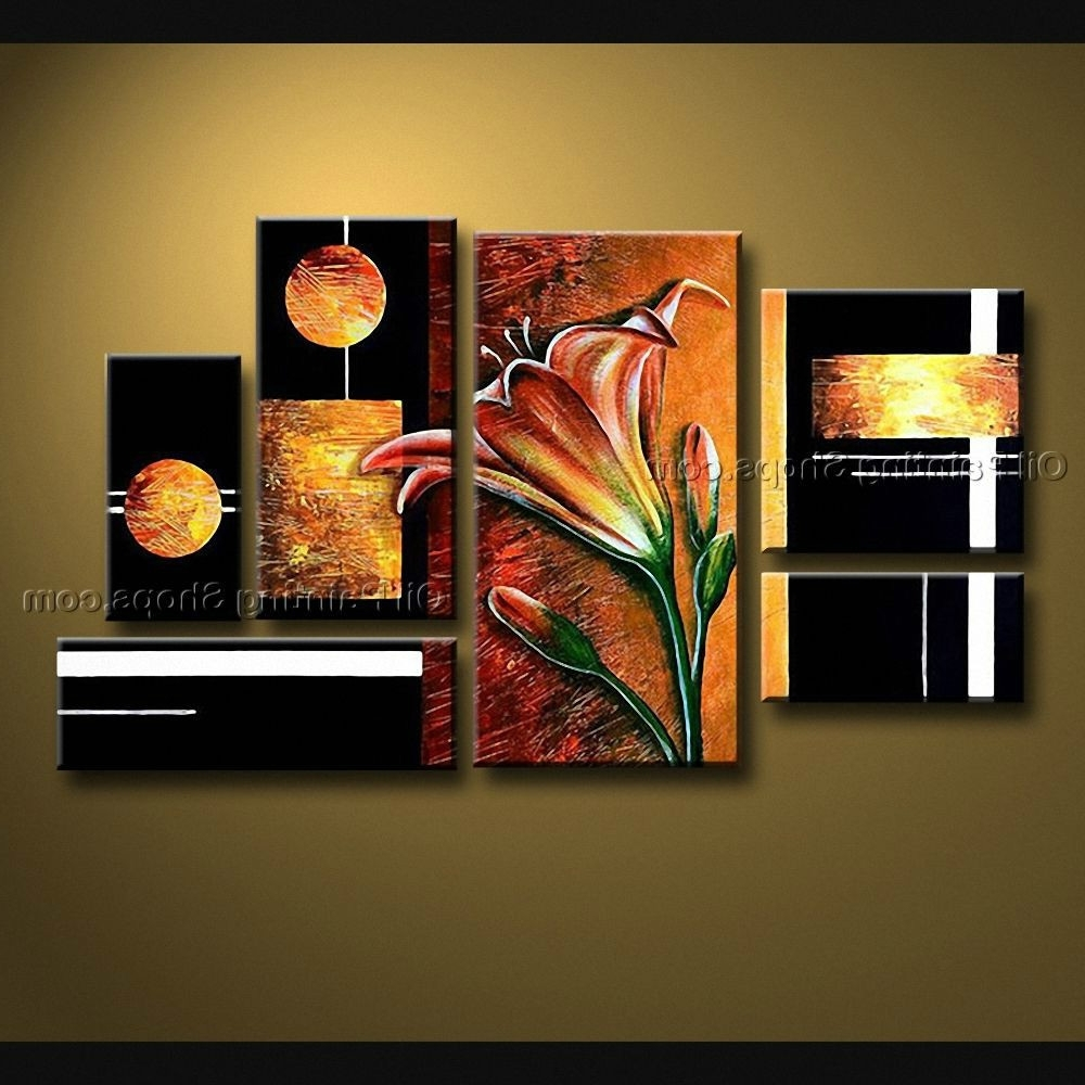 Oversized Canvas Wall Art Throughout Trendy Congenial Large Canvas Prints Wall Art Abstract Painting Framed (View 6 of 15)