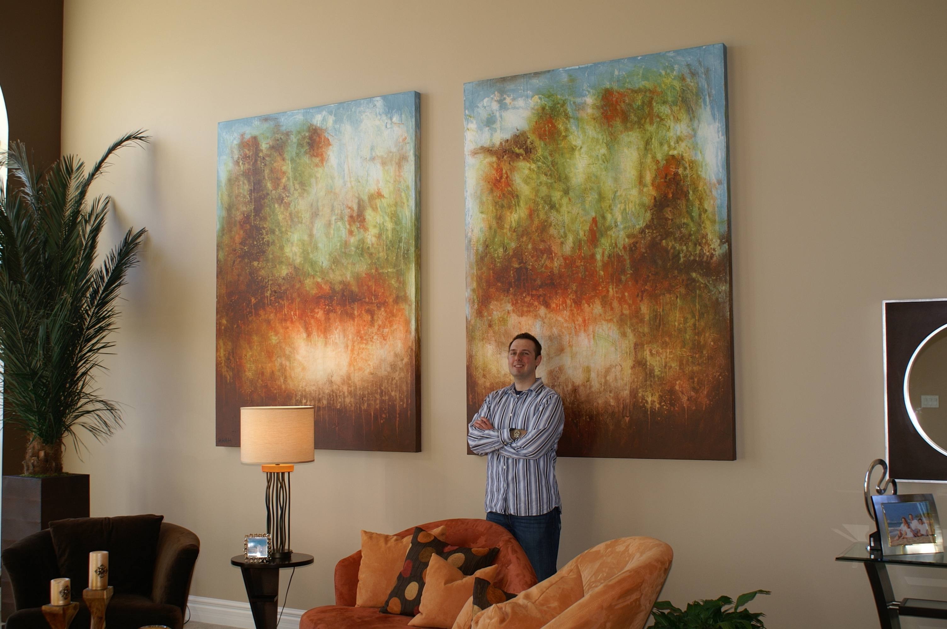 Oversized Commissioned Painting For A Two Story Great Room – Andy Within Most Popular Oversized Abstract Wall Art (Gallery 2 of 15)