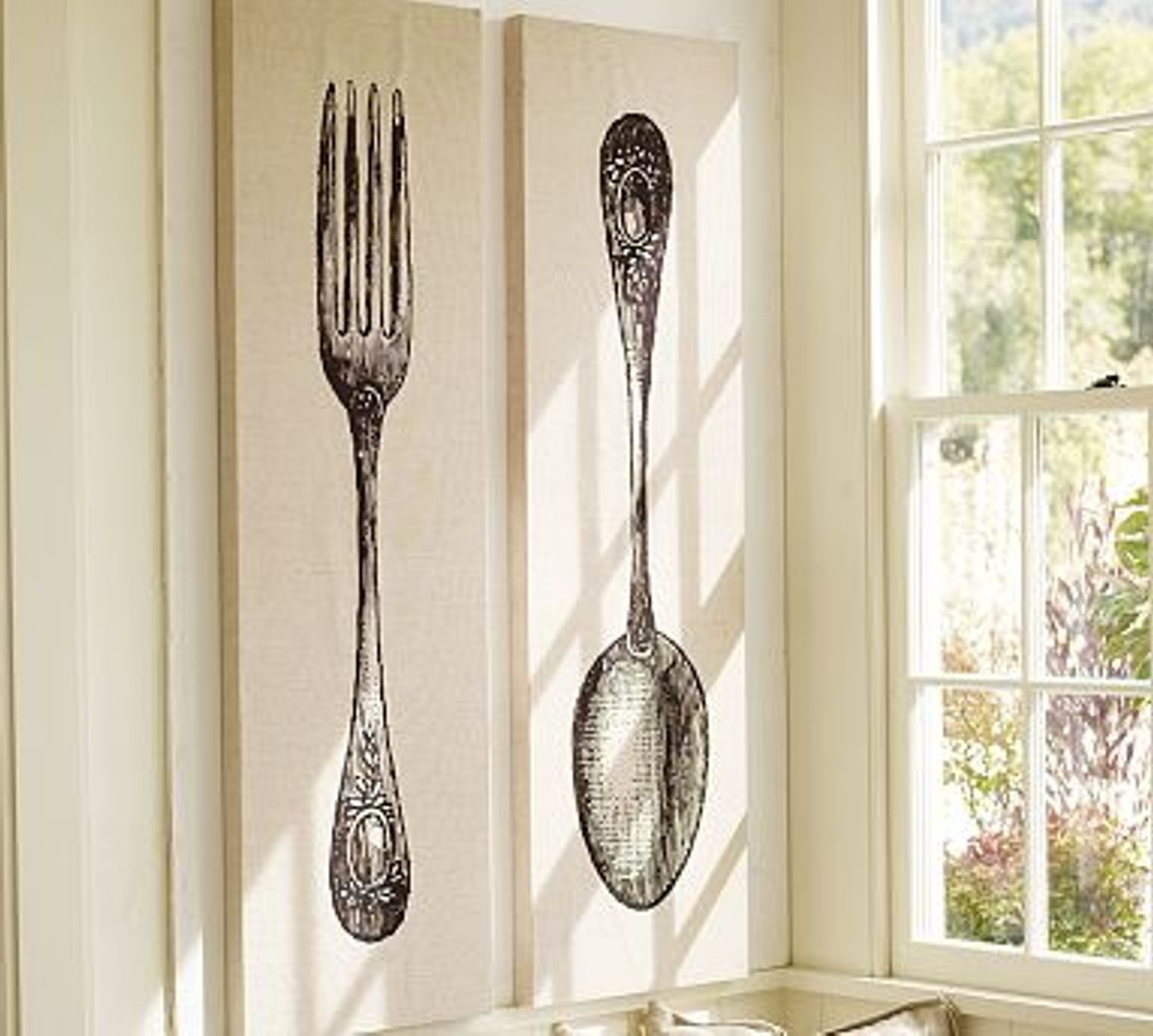 Oversized Cutlery Wall Art Inside Preferred Oversized Spoon And Fork Wall Decor Target (View 8 of 15)