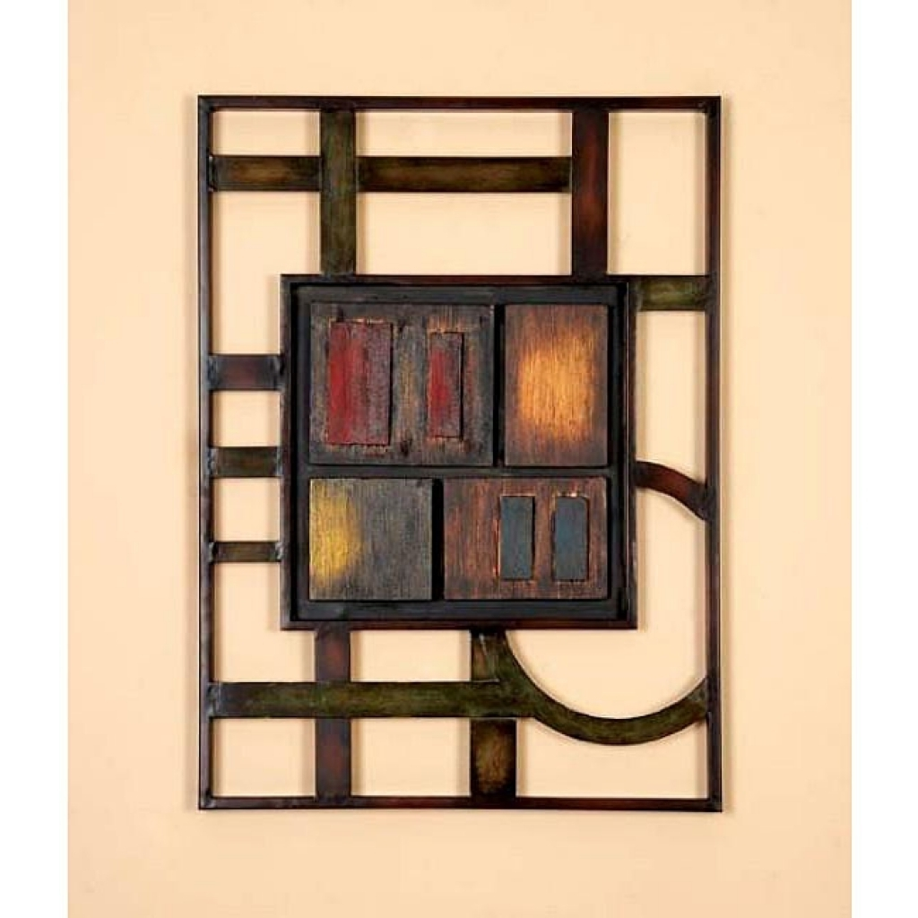 Overstock Abstract Wall Art Throughout Popular Geometric Modern Metal Abstract Wall Art 12732391 Overstock (Gallery 2 of 15)