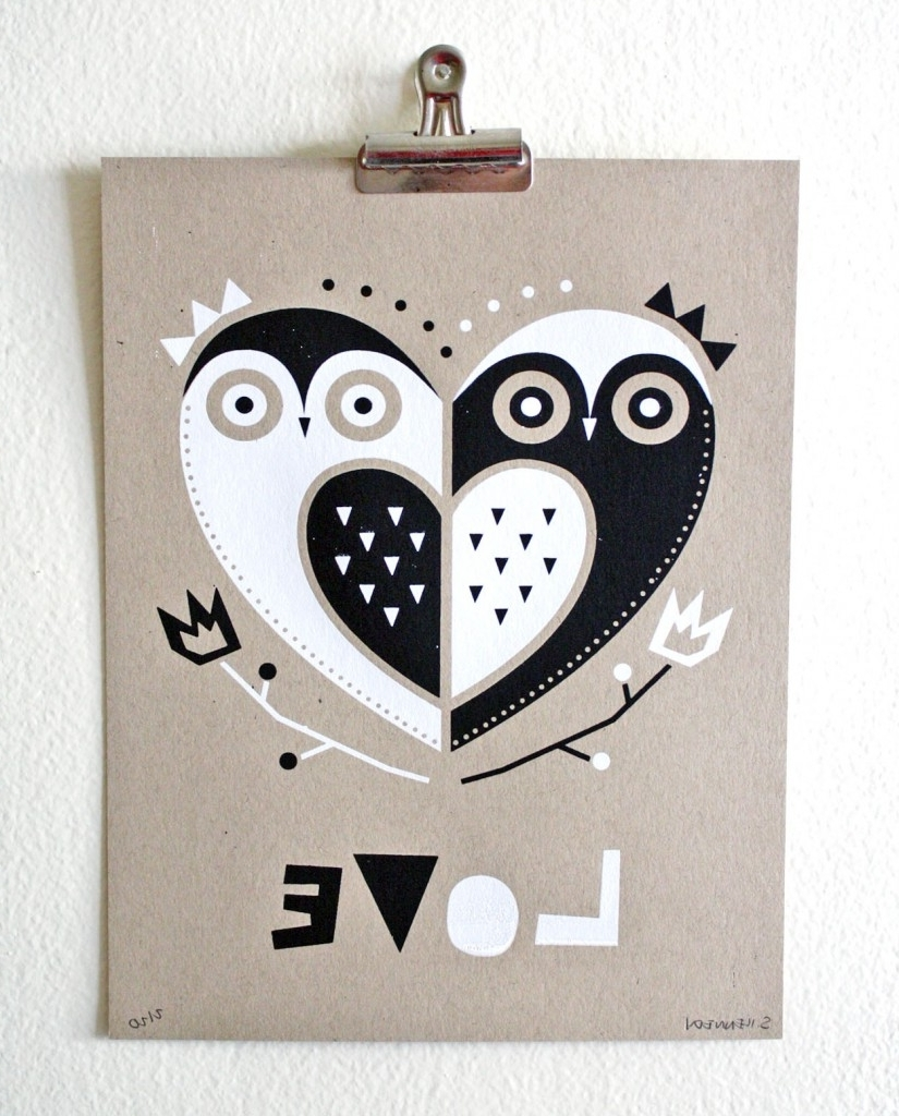 Owl, Heart Cards And Inside Latest Owl Framed Wall Art (View 8 of 15)
