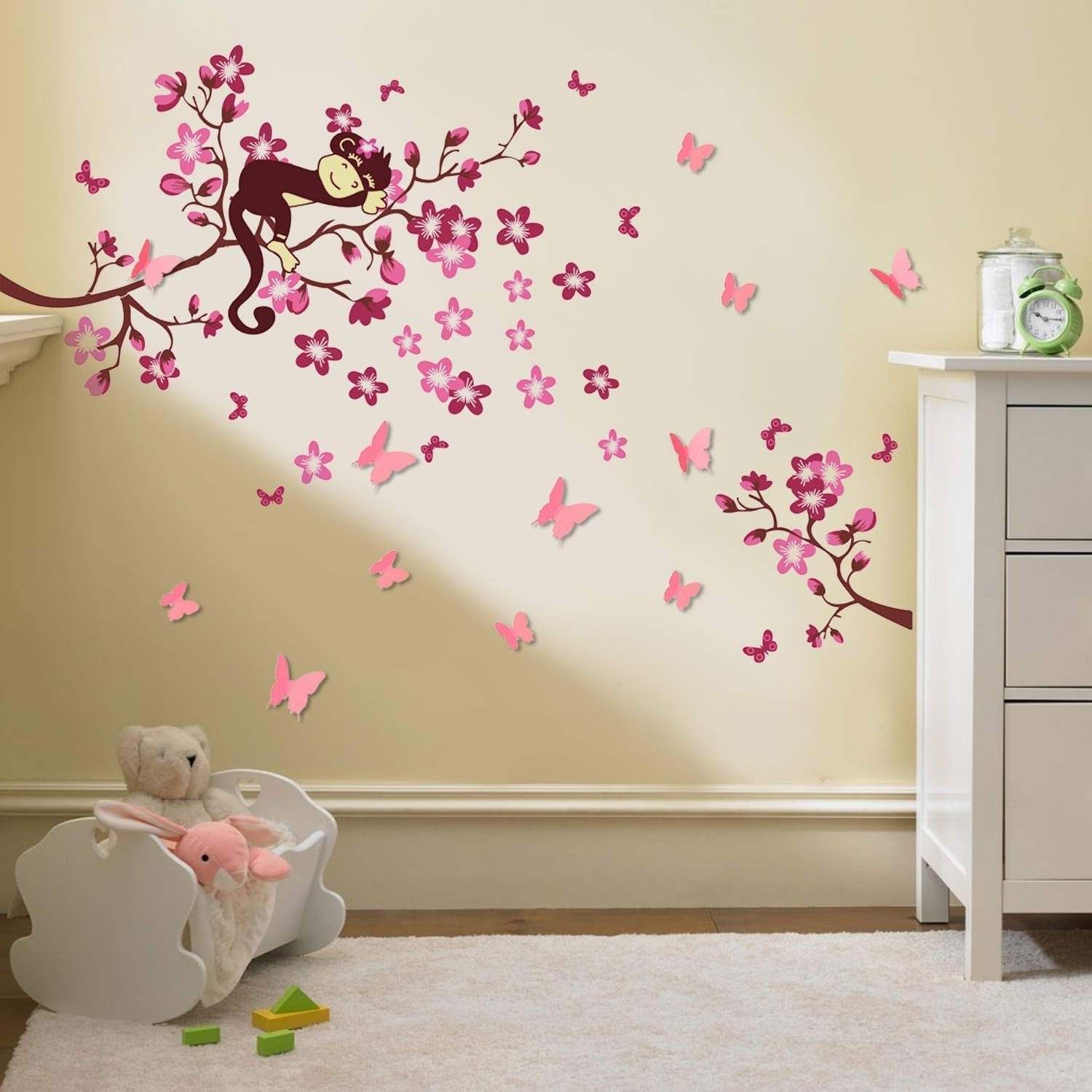 Owl Wall Art Stickers Within Most Popular Walplus Stickers Muraux 3D Pour Chambre D'enfant Papillons/fleurs (View 9 of 15)