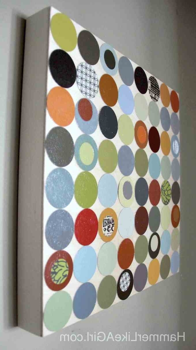 Paint Swatch Wall Art With Current Polka Dot Diy Wall Art From Paint Swatches – Mod Podge Rocks (View 10 of 15)