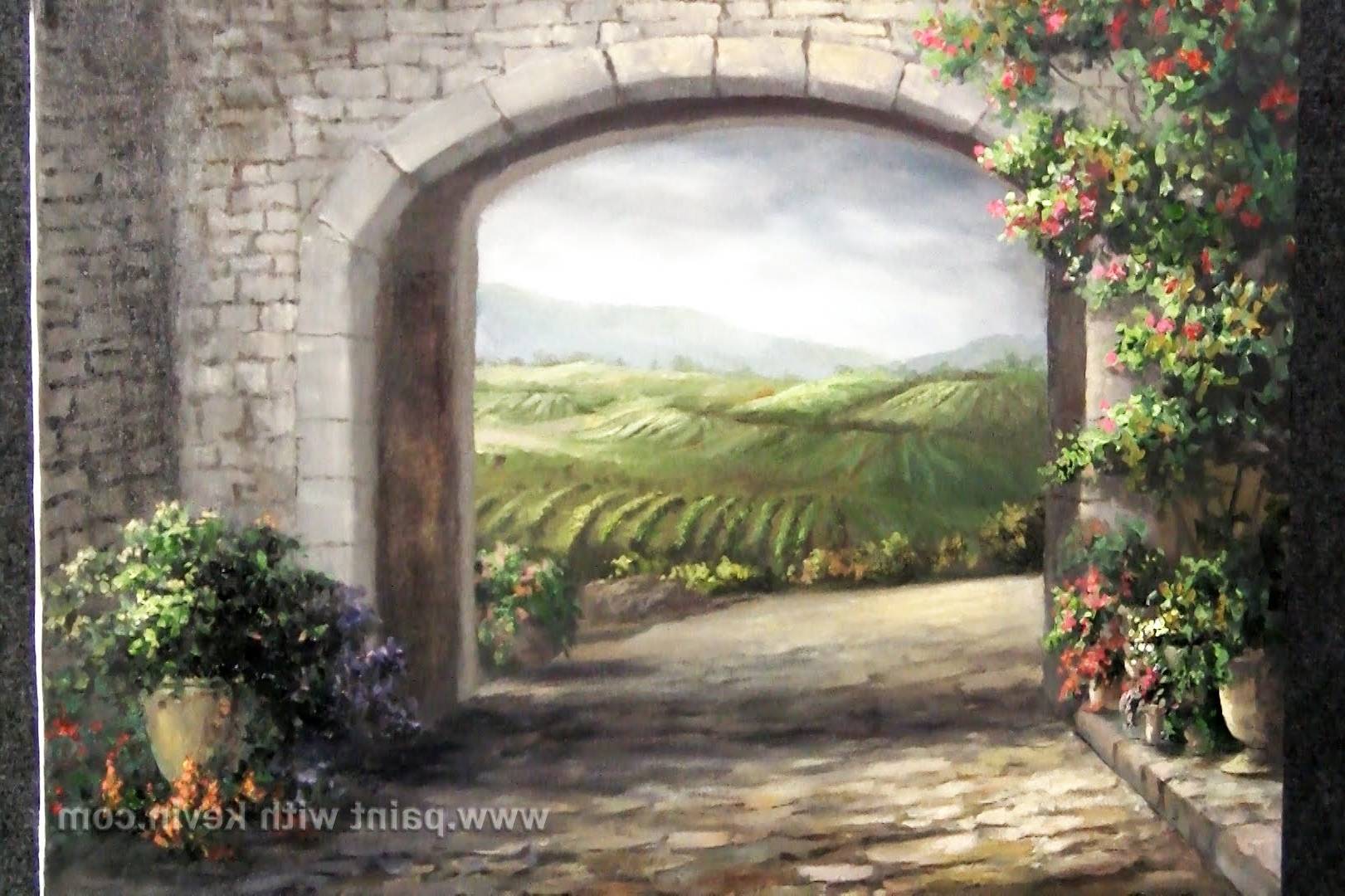 Paint With Kevin Hill – Youtube With Recent Italian Scenery Wall Art (View 11 of 15)