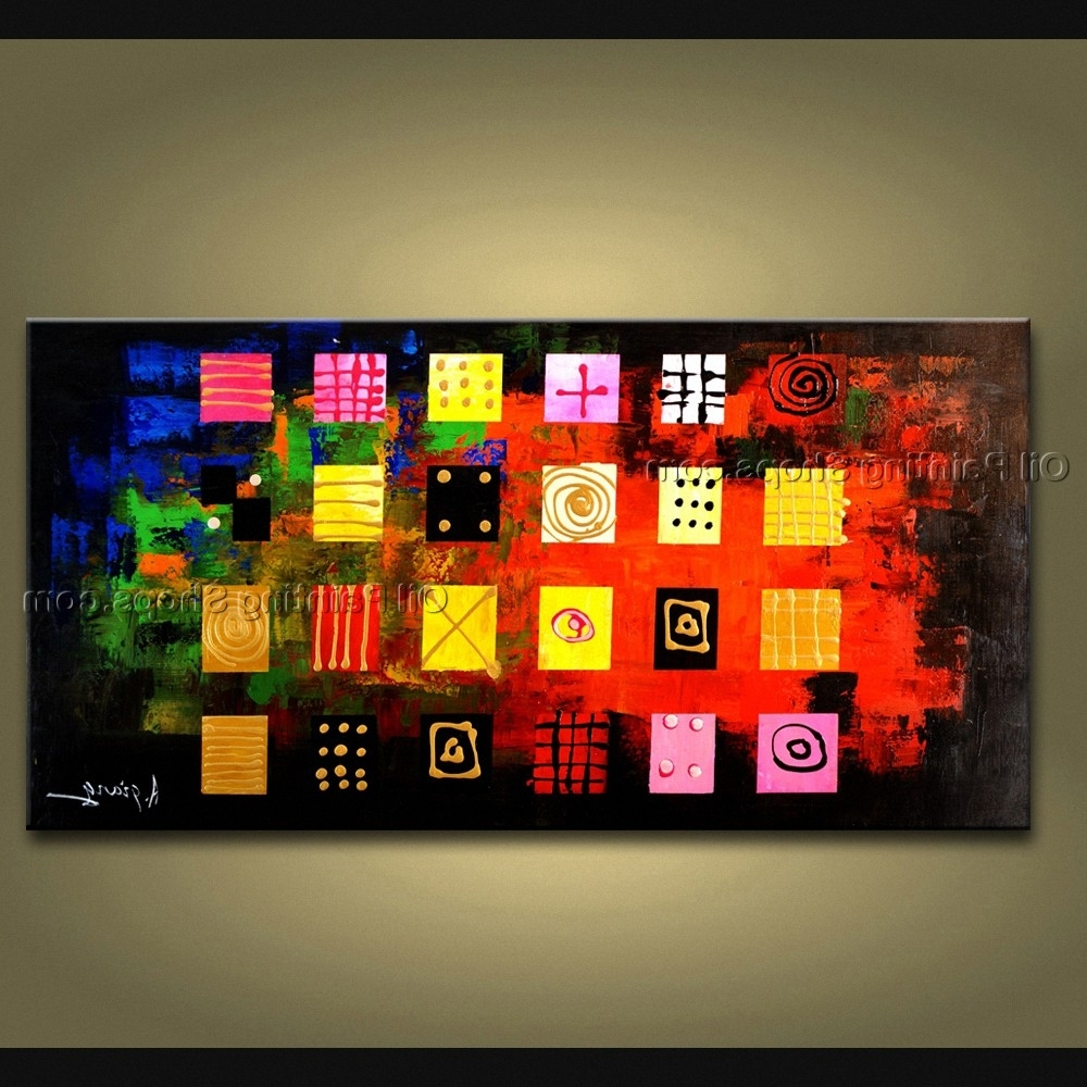 Painted Astonishing Modern Abstract Painting Wall Art Gallery Wrapped Intended For Well Known Electronic Wall Art (View 12 of 15)