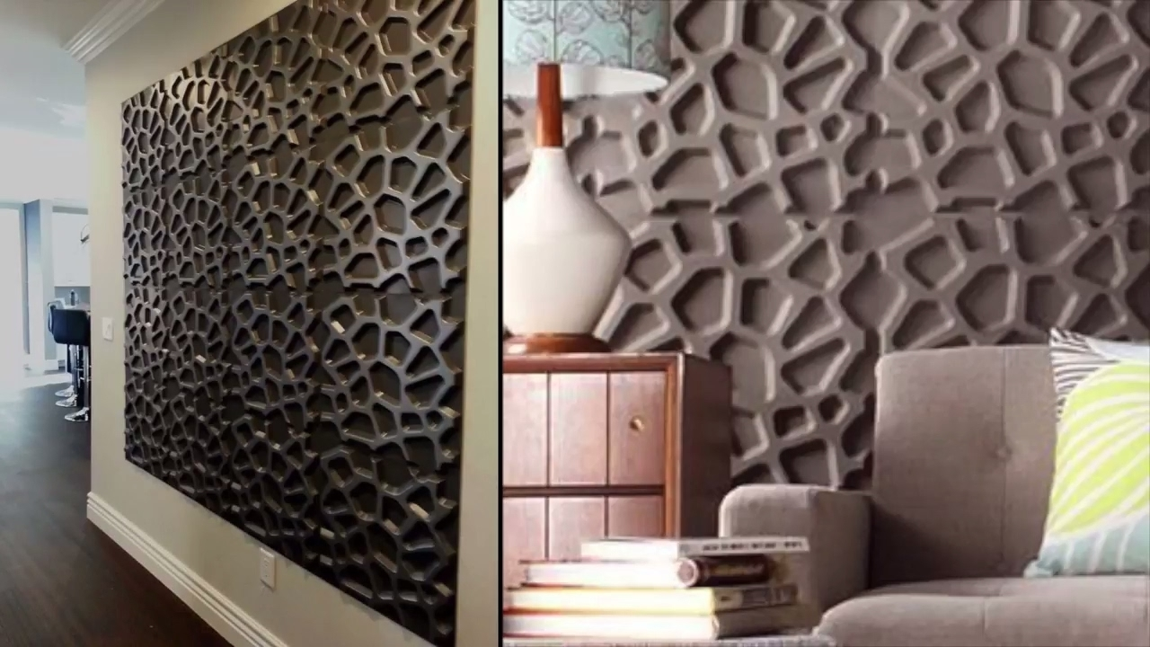 Painting 3d Wall Panels Pertaining To 2018 5 Steps To Enhance Your Walls Using 3d Wall Panels – Youtube (View 3 of 15)