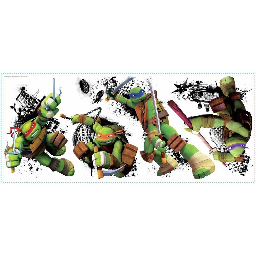 Paints : Tmnt Wall Stickers Australia Together With Tmnt Giant Intended For Well Known Tmnt Wall Art (View 11 of 15)