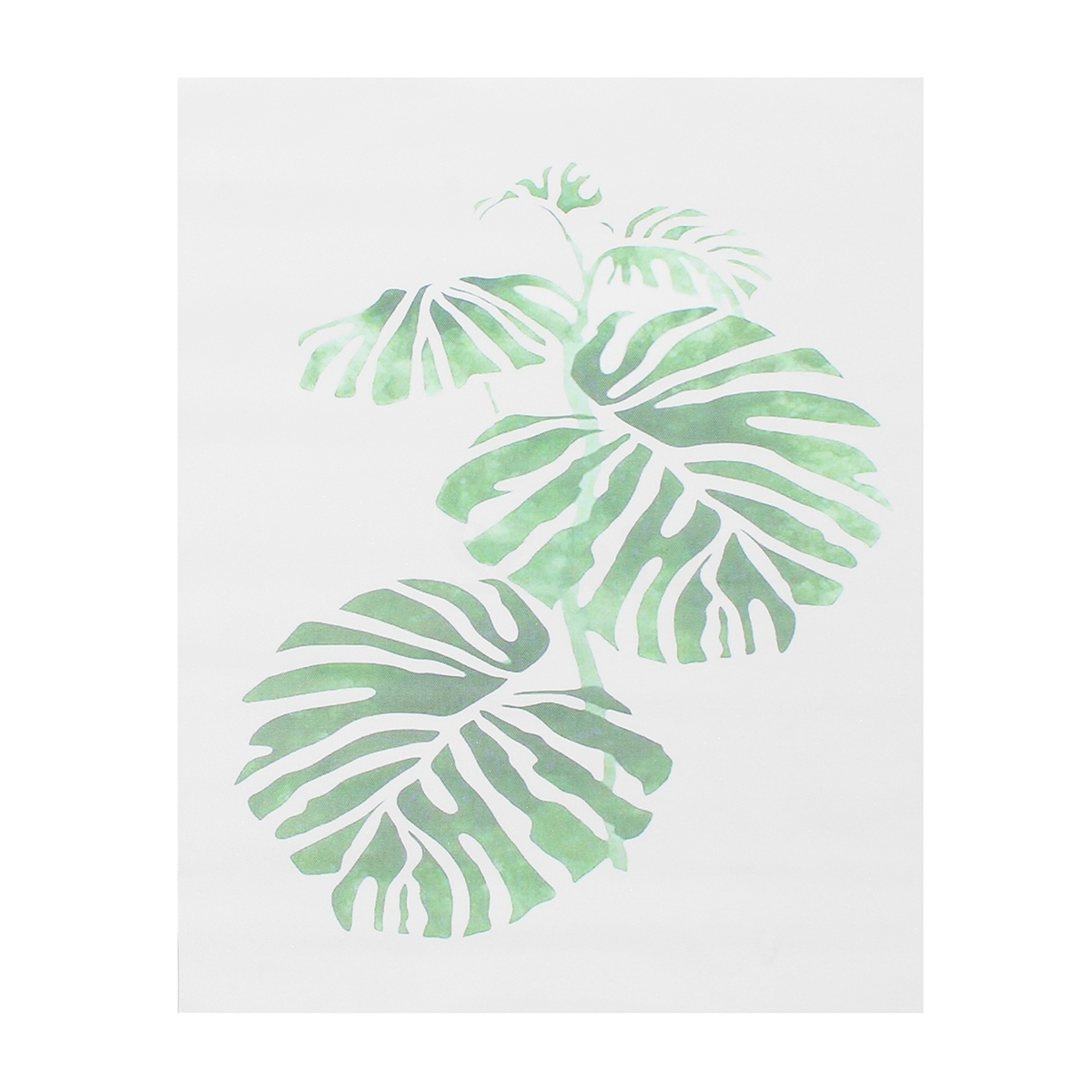 Palm Leaf Wall Art For Most Current 50X70Cm Modern Watercolor Green Plant Canvas Painting Palm Leaf (View 5 of 15)