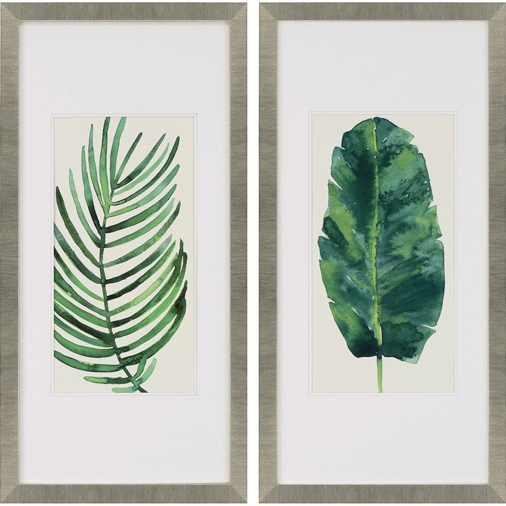 "Palm Leaf Wall Art Pertaining To Fashionable Paragon ""palm Leaves Ii"" 2 Piece Framed Wall Art Set & Reviews (View 7 of 15)"