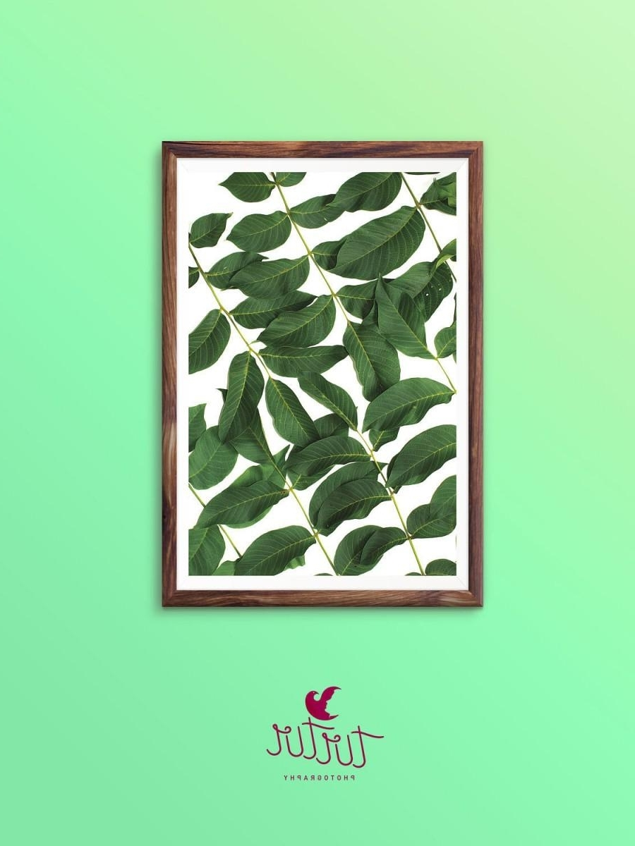 Palm Leaf Wall Art With Famous Leaf Wall Art Print Tropical Plant Photo Printable Wall Art (View 9 of 15)