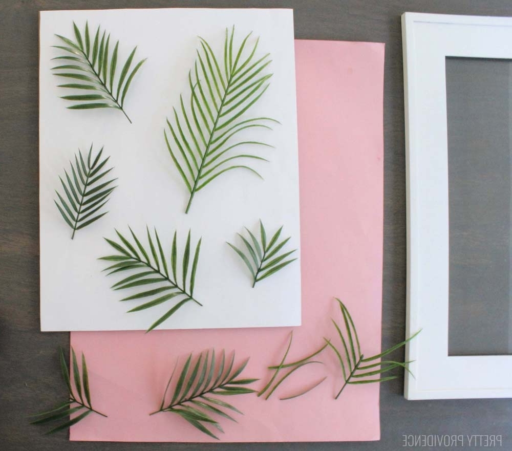 Palm Leaf Wall Art With Regard To Newest Diy Tropical Leaf Wall Art – Pretty Providence (View 10 of 15)
