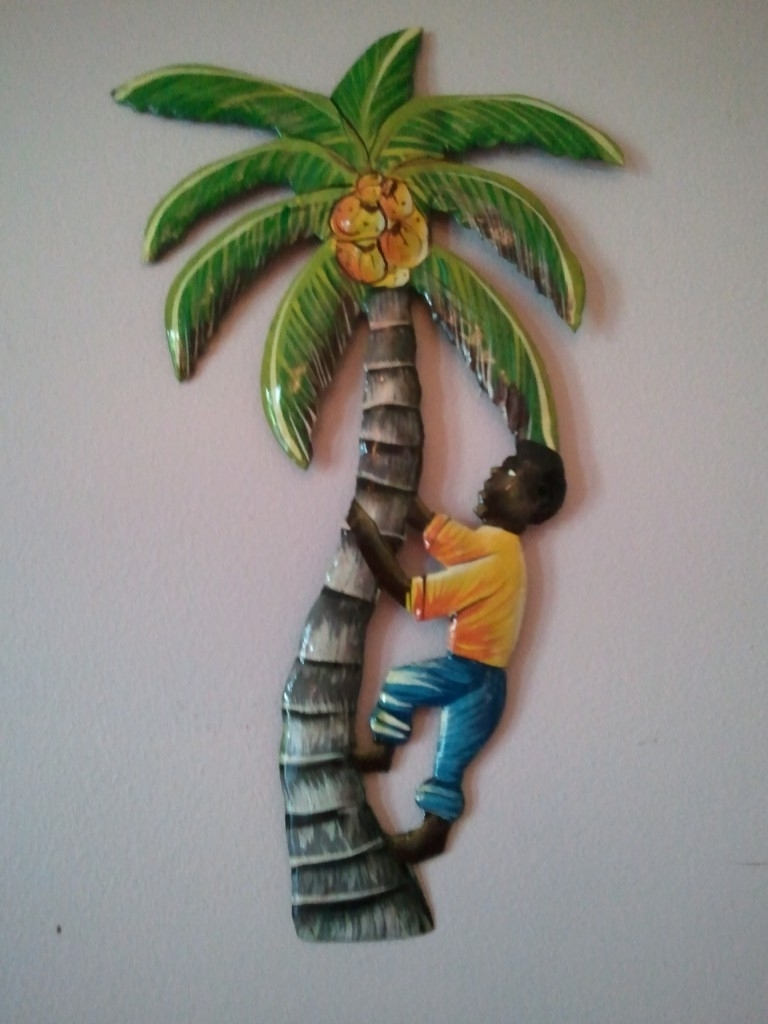 Palm Tree Metal Art Regarding 2017 Palm Tree Haitian Metal Art (View 8 of 15)