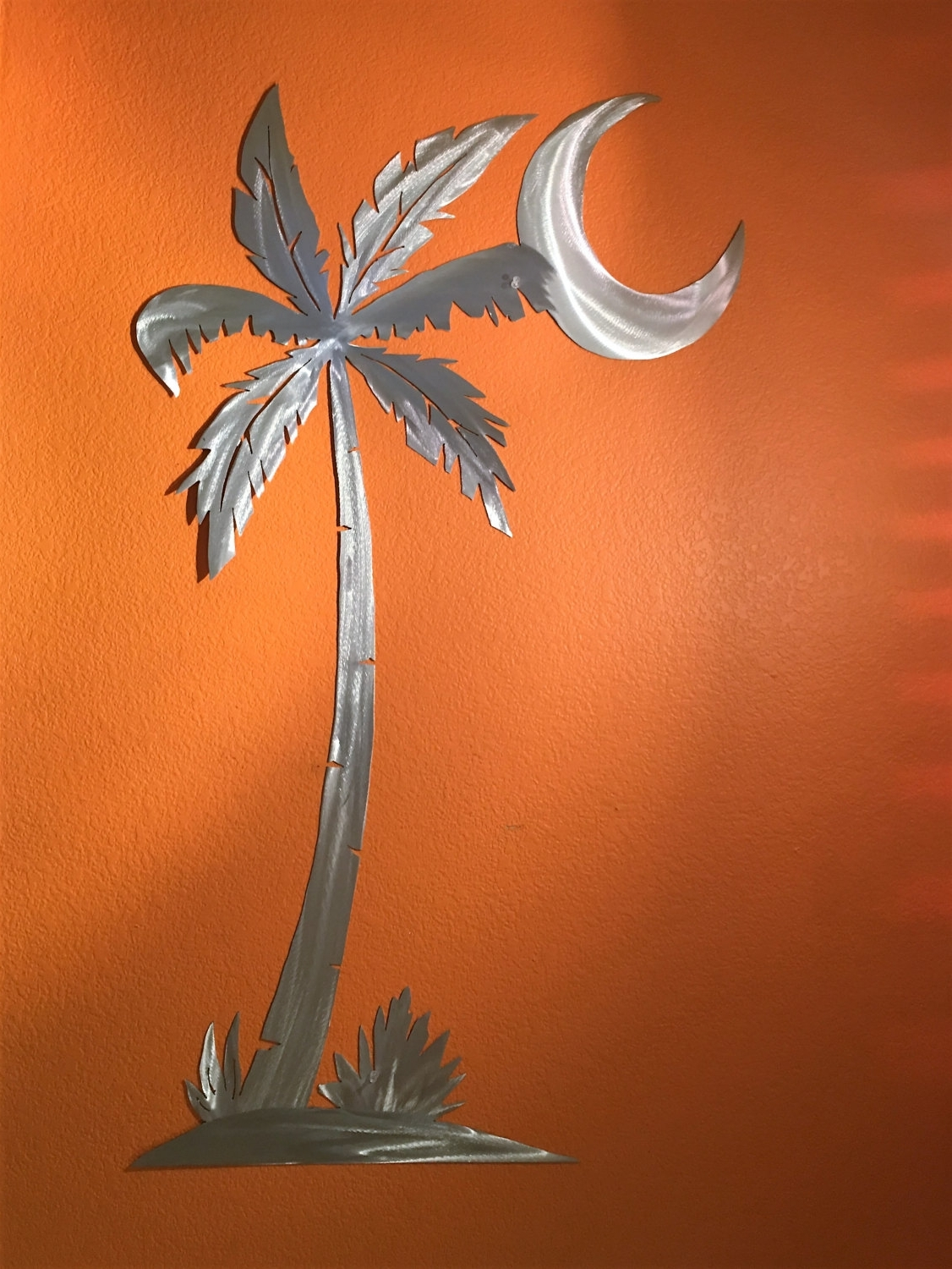 Palm Tree Metal Wall Art Pertaining To Most Popular Palm Tree. Large Wall Art. Beach Decor. Gift For Her (View 7 of 15)