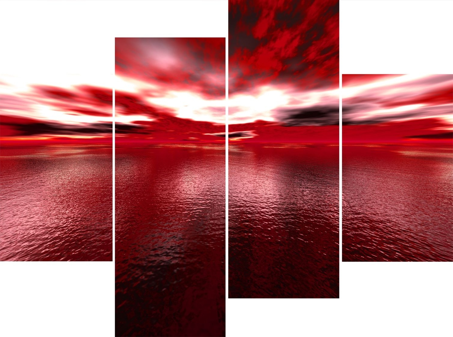 Panel Red Sea Andros Vision Canvas Pictures (View 11 of 15)
