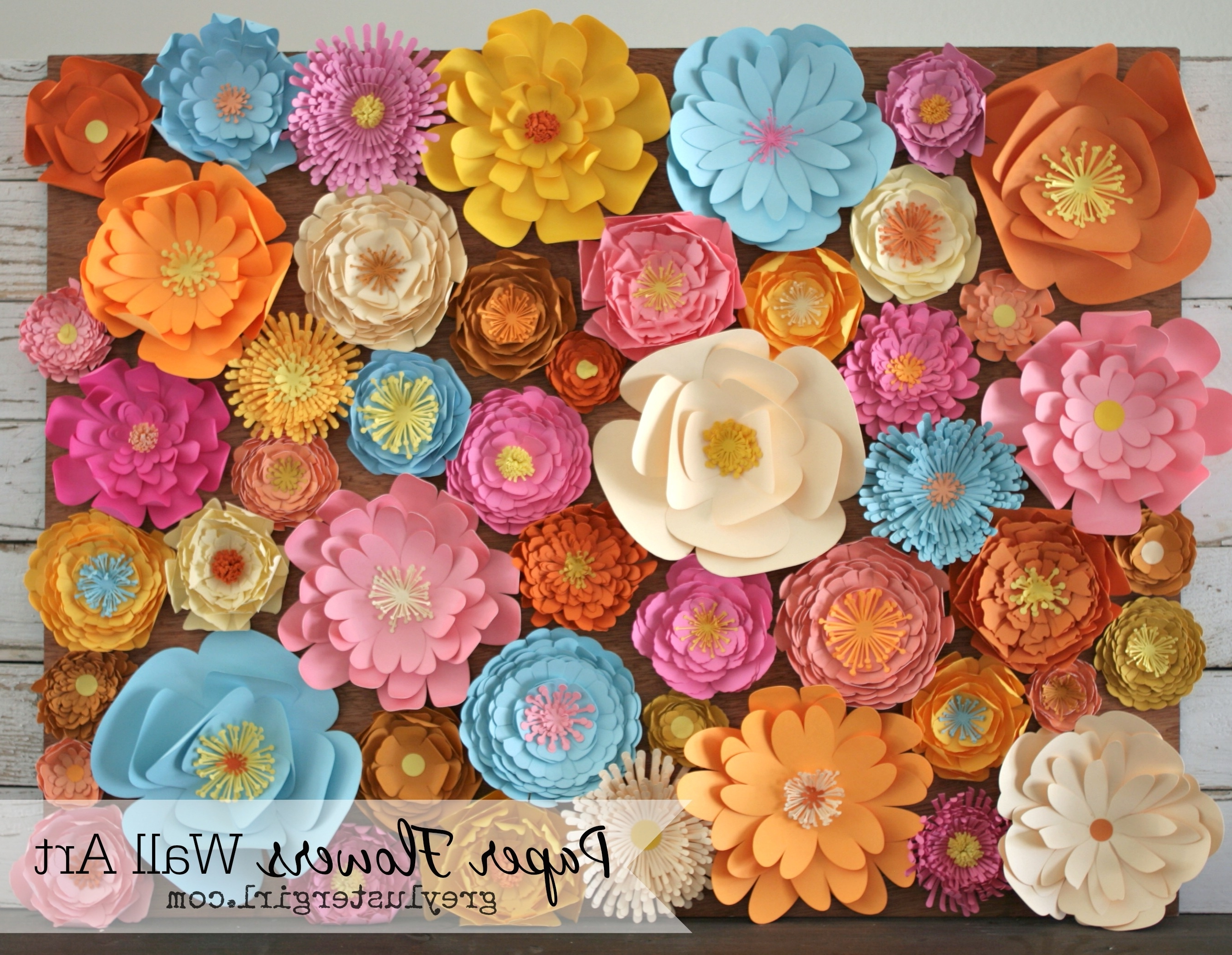 Paper Flowers Wall Art – Within Famous 3D Flower Wall Art (View 13 of 15)