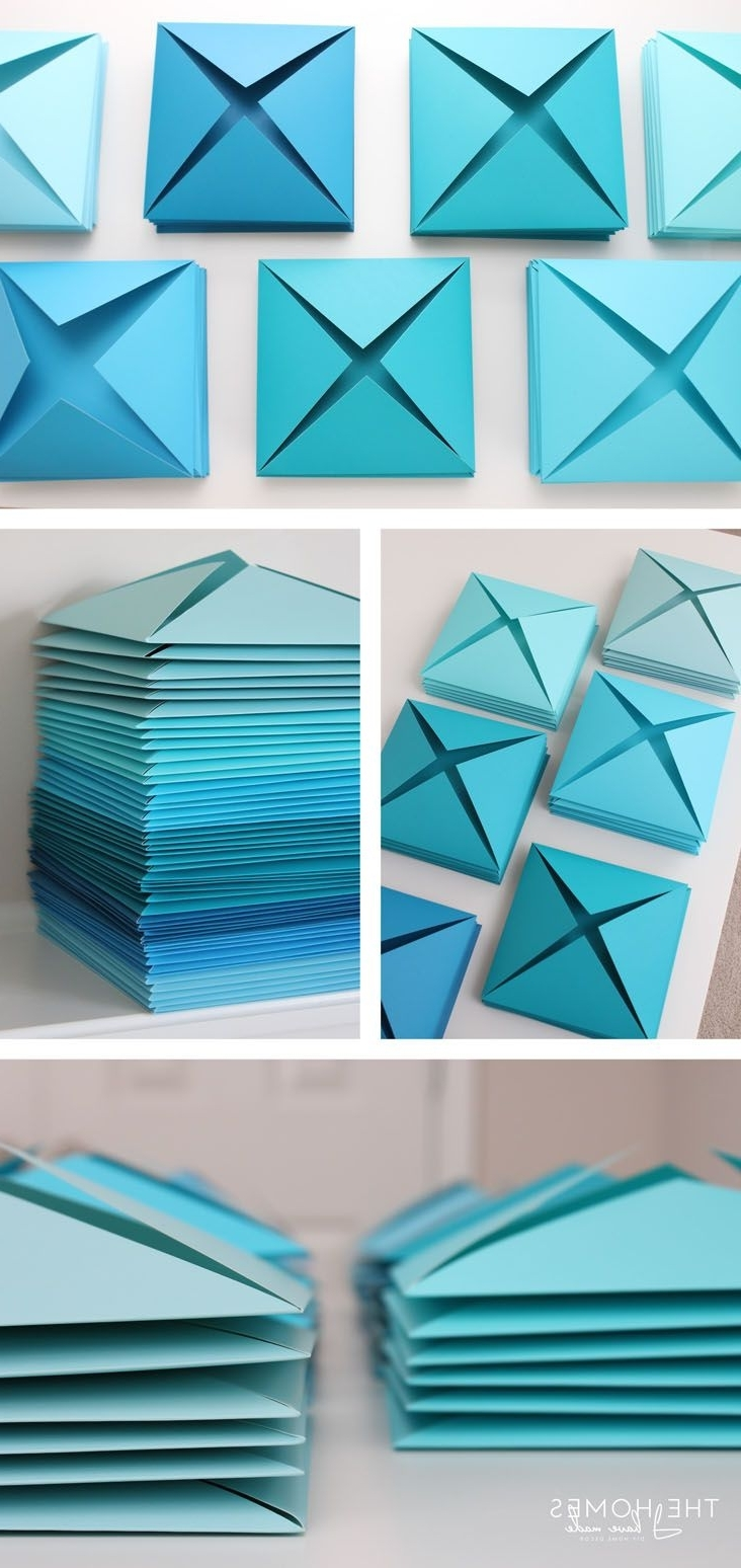 Paper Wall Art, Paper For Popular Diy 3d Paper Wall Art (View 10 of 15)
