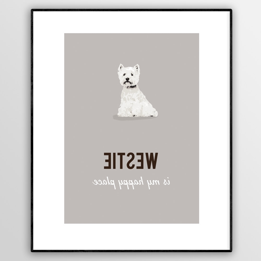Paperpaintpixels Pertaining To Westie Wall Art (View 6 of 15)