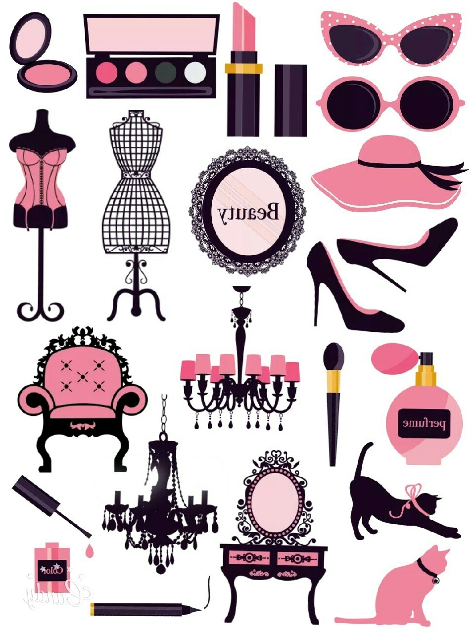 Paris Themed Stickers For Preferred Pink In Fashion – Kate Spade /paris /coco Chanel Inspired Erin (View 7 of 15)