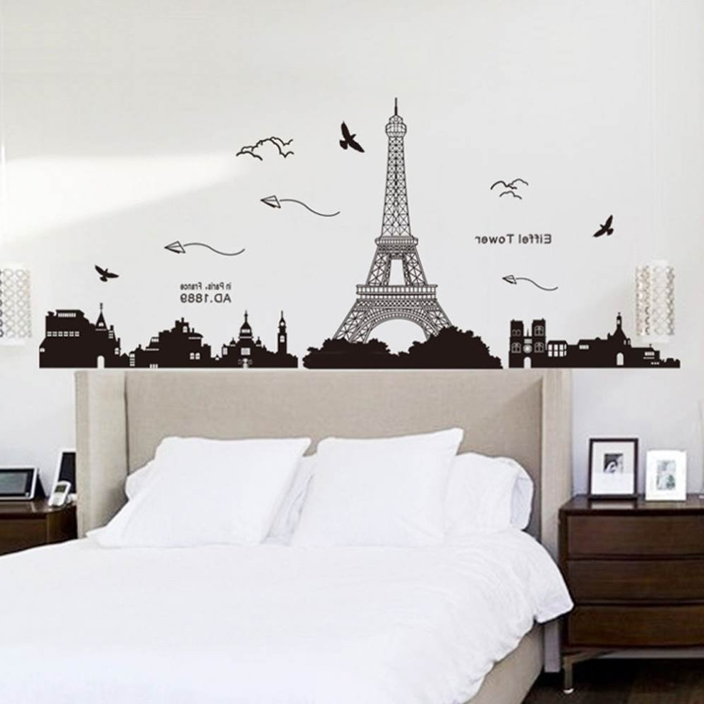 Paris Themed Stickers Inside Well Known Paris Wall Decals Walmart Themed Stickers Amazon Bedroom Ideas (View 8 of 15)