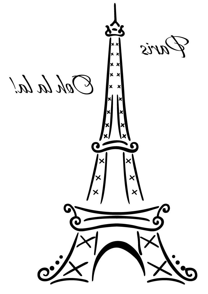 Paris Vinyl Wall Art With Regard To Famous Eiffel Tower Paris Ooh La La Wall Deco Vinyl Decal Wall Art (View 6 of 15)
