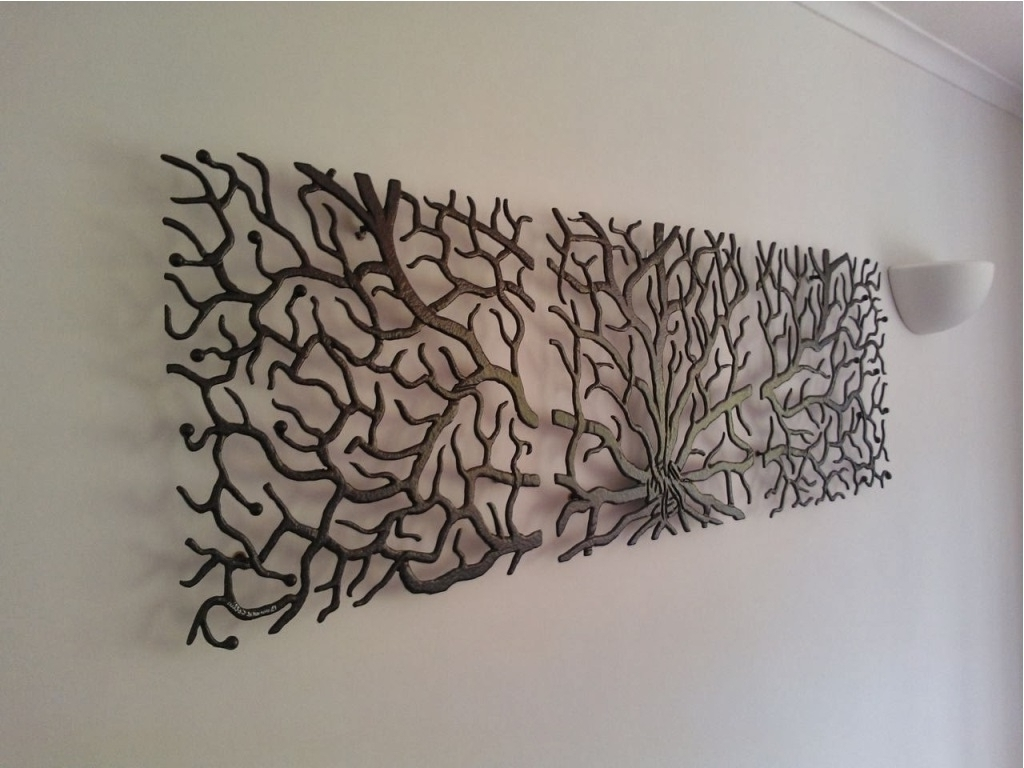 Particular Branches Ornament Vase Ideas Home Decor Wall Art Home Regarding Well Liked Large Metal Art (View 7 of 15)