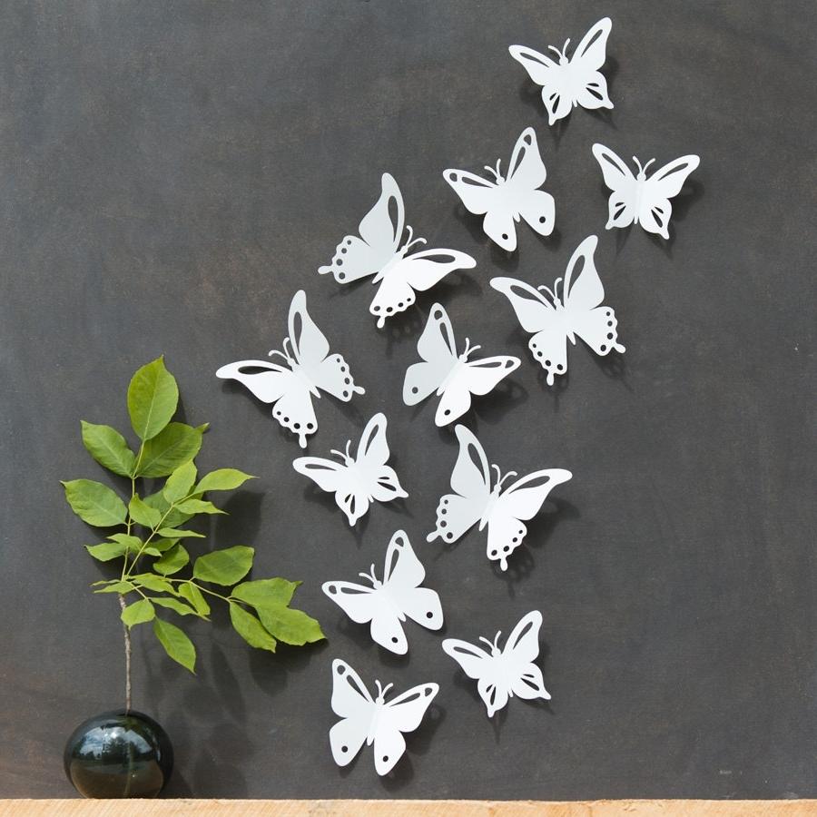 Particular Flower Butterfly Wall Stickers Living Room Flower Wall Regarding Popular 3D Removable Butterfly Wall Art Stickers (View 13 of 15)