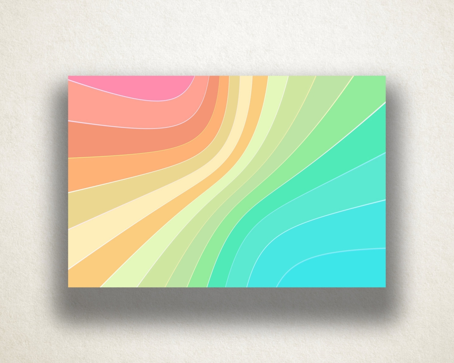 Pastel Abstract Wall Art Regarding Newest Abstract Rainbow Design Canvas Art Print, Gradient Pastel Wall Art (View 7 of 15)