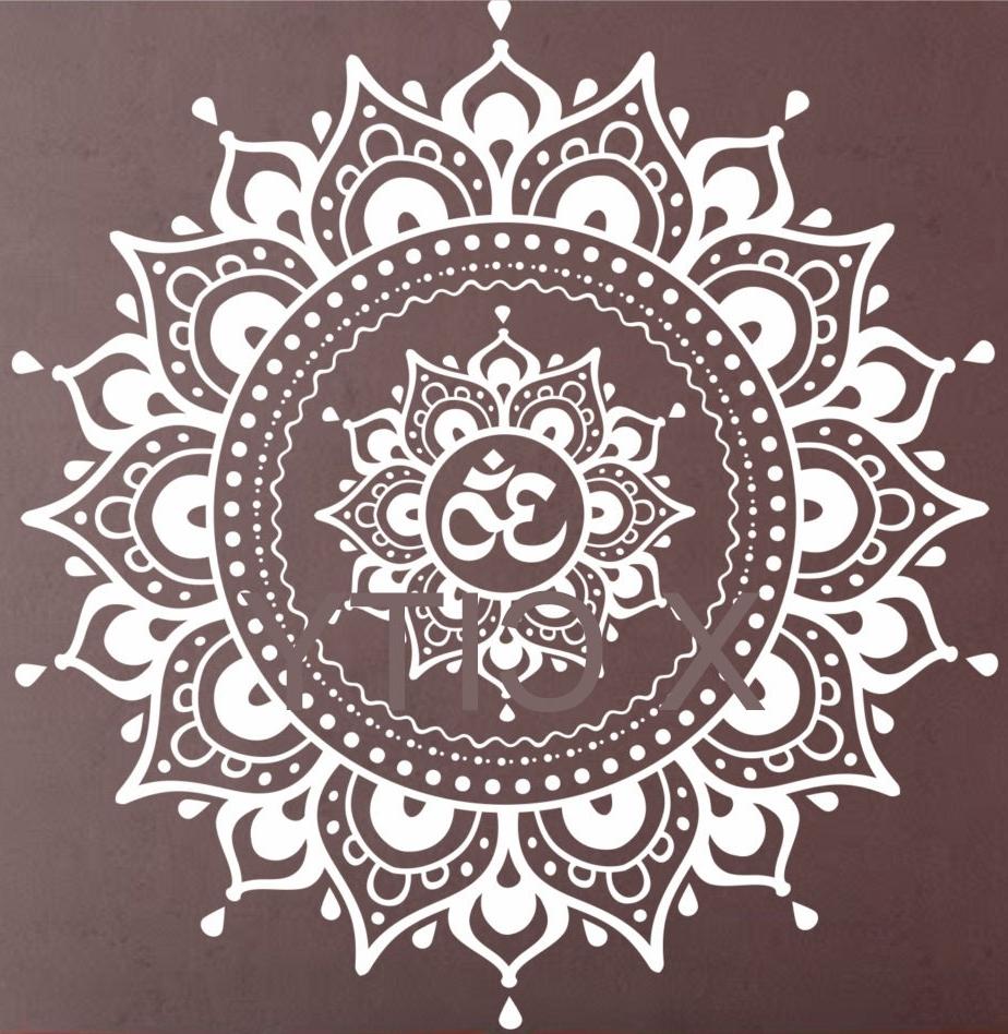 Pattern Wall Art Within Recent Mandala Pattern Big Wall Decal Vinyl Art Sticker Yoga Lotus (View 5 of 15)