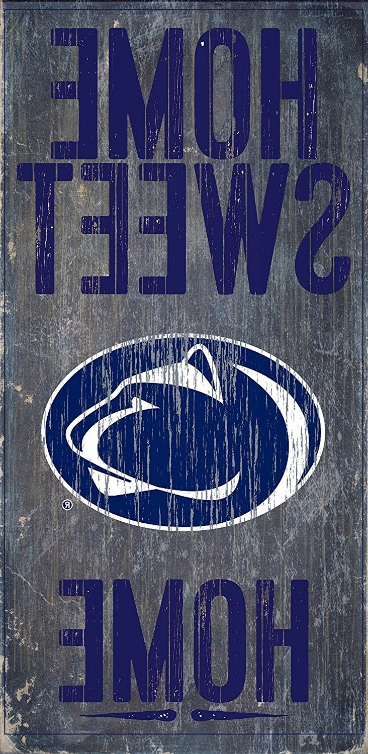 Penn State Wall Art Throughout Favorite Amazon : Penn State Nittany Lions Wood Sign – Home Sweet Home (View 10 of 15)