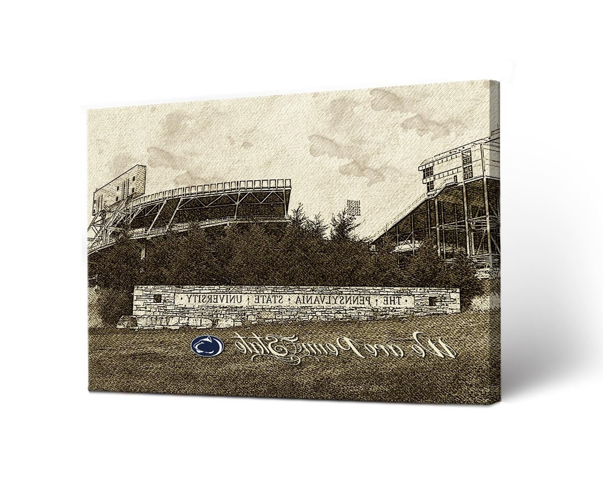 Penn State Wall Art With Favorite Penn State Nittany Lions Sketch Canvas Wall Art (View 12 of 15)