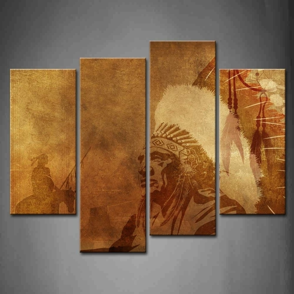 People First Wall Art Canvas Print For Home Decor Inside Native Intended For Fashionable Native American Wall Art (View 12 of 15)