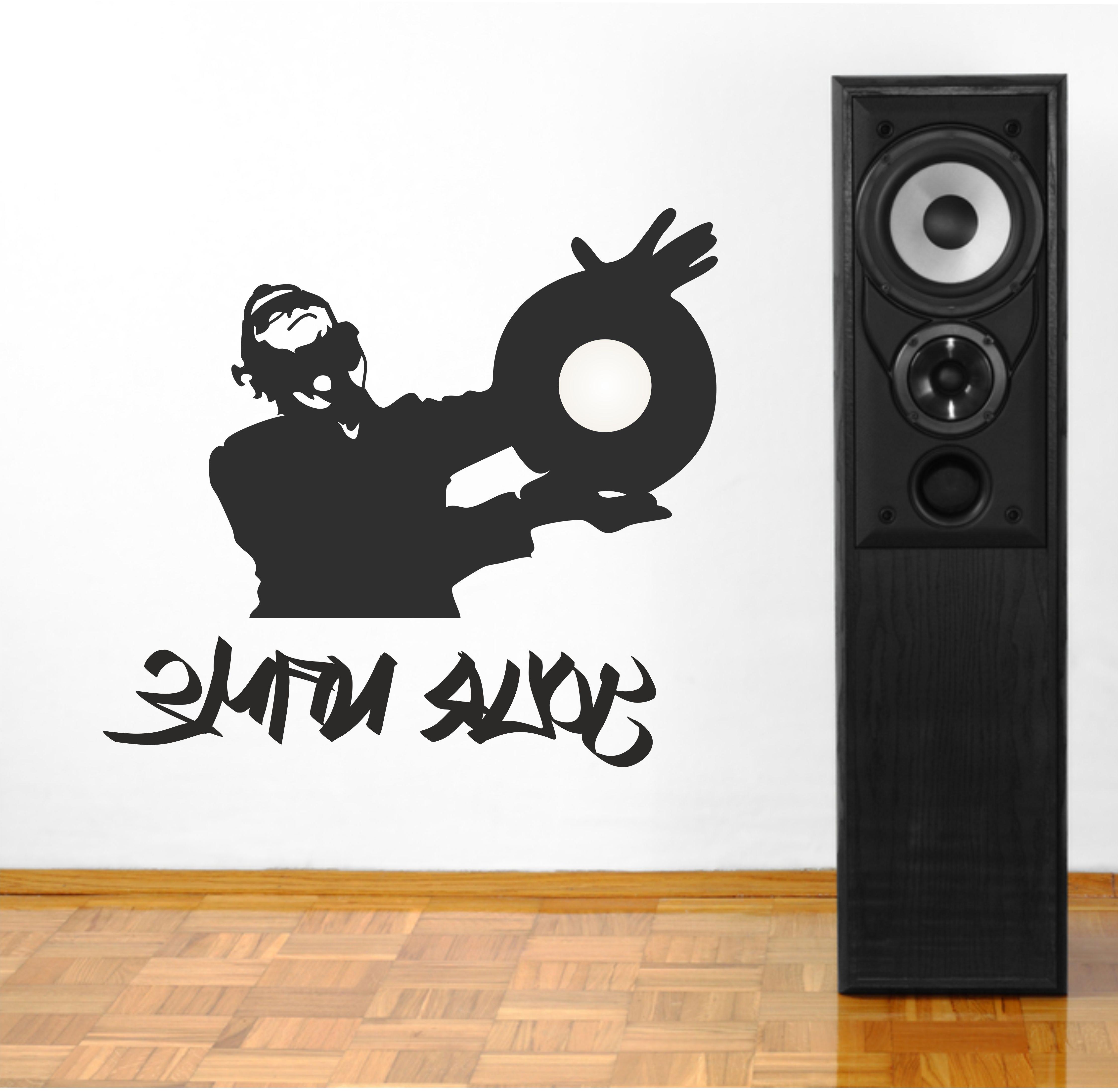 Personalised Graffiti Dj Music Wall Art Sticker (View 12 of 15)