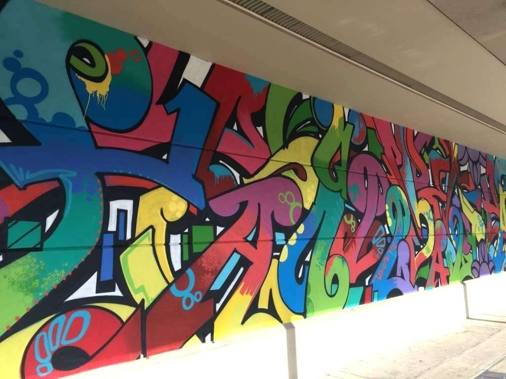 Personalized Graffiti Wall Art Throughout Best And Newest Personalized Graffiti Wall Murals • Wall Murals Ideas (View 12 of 15)