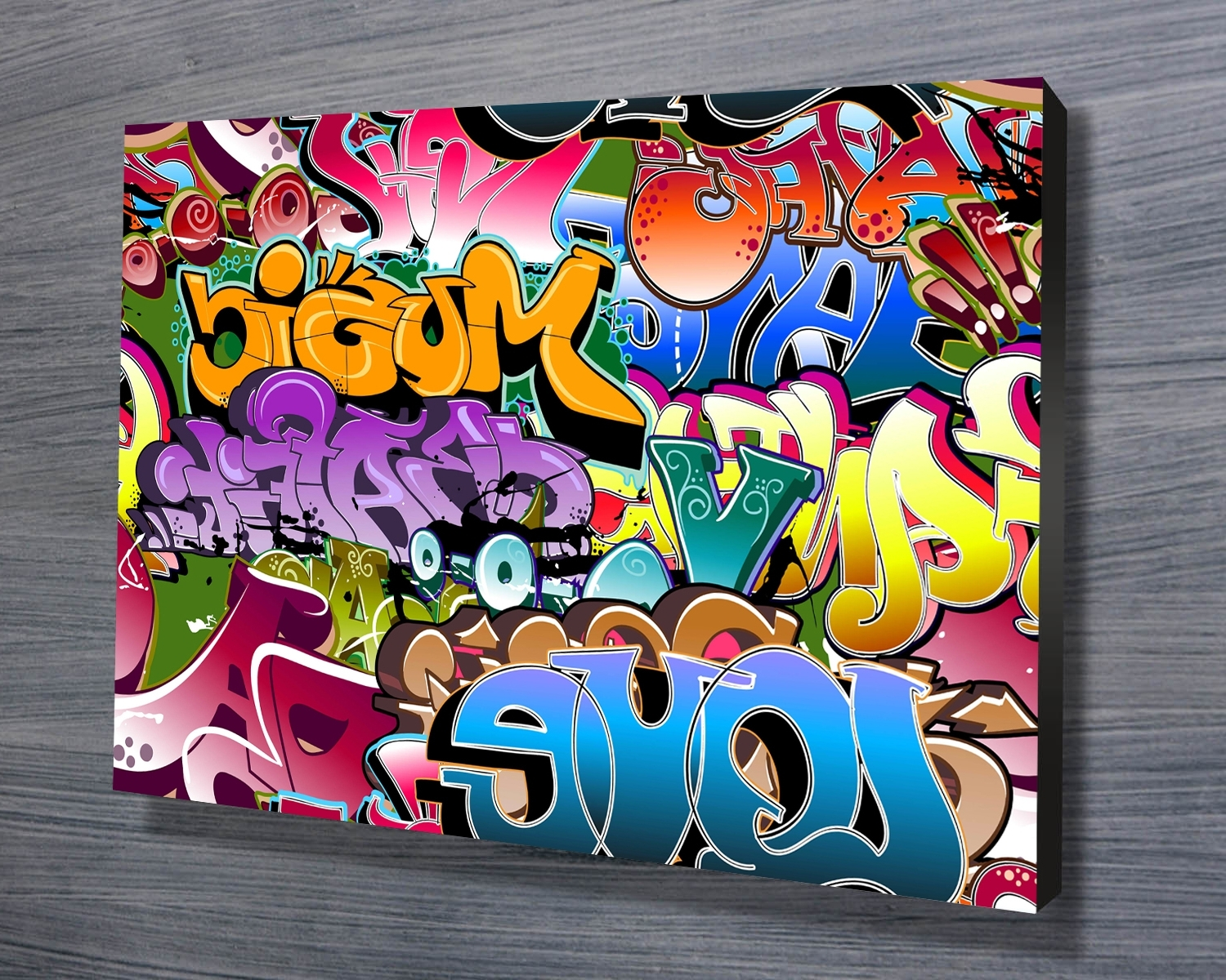Personalized Graffiti Wall Art Throughout Trendy Personalized Graffiti Wall Murals • Wall Murals Ideas (View 4 of 15)