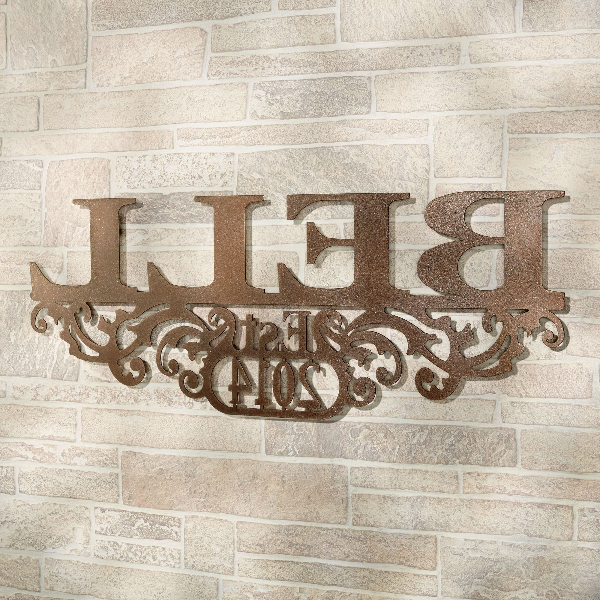 Personalized Last Name Wall Art For Newest Kinship Bronze Family Name And Year Personalized Metal Wall Art Sign (View 11 of 15)