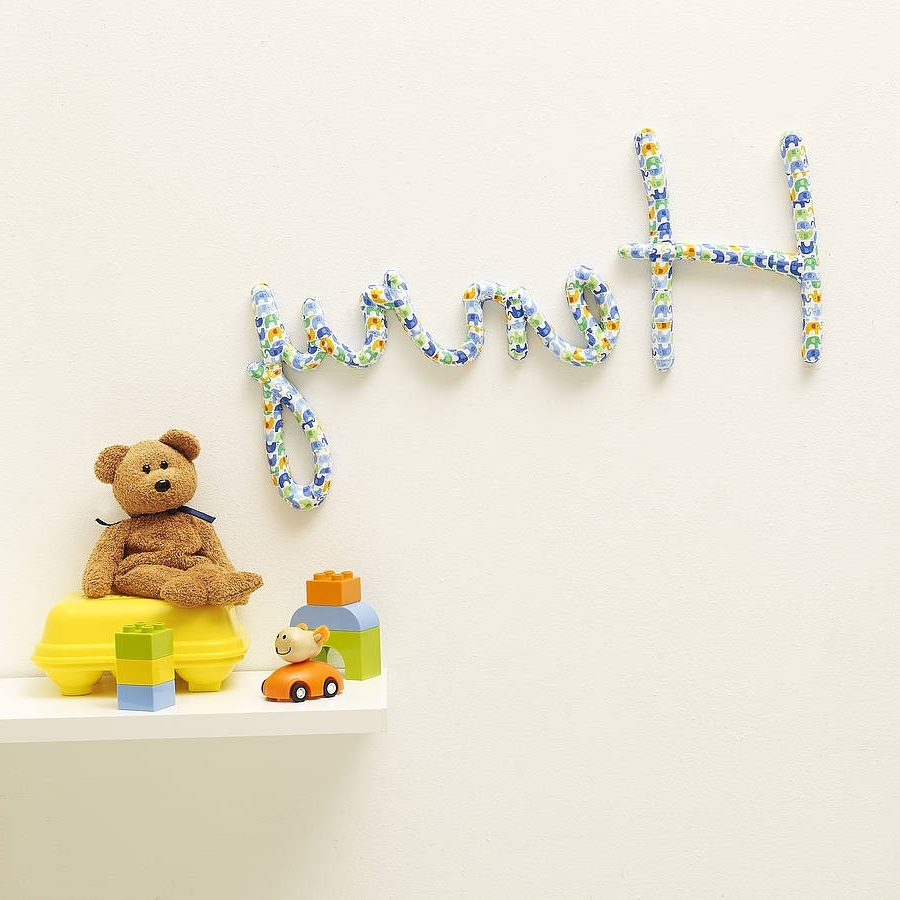 Personalized Nursery Wall Art With Regard To Trendy Wall Art Designs: Name Wall Art Personalised Nursery Name Wall Art (View 12 of 15)