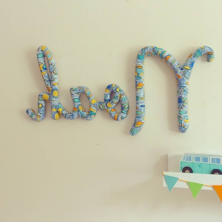 Personalized Wall Art With Names With Newest Wall Art Design Ideas: Colorful Noah Name Wall Art For Nursery (View 11 of 15)