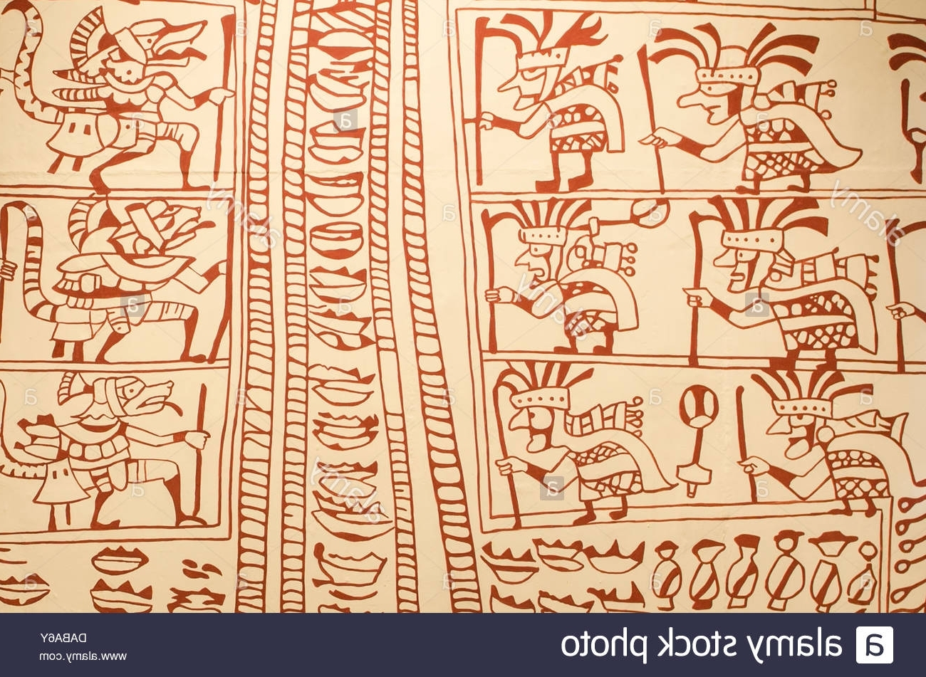 Peruvian Wall Art Throughout Well Known Wall Art Petroglyphs Artifacts In Cao Museum At The El Brujo Stock (View 15 of 15)