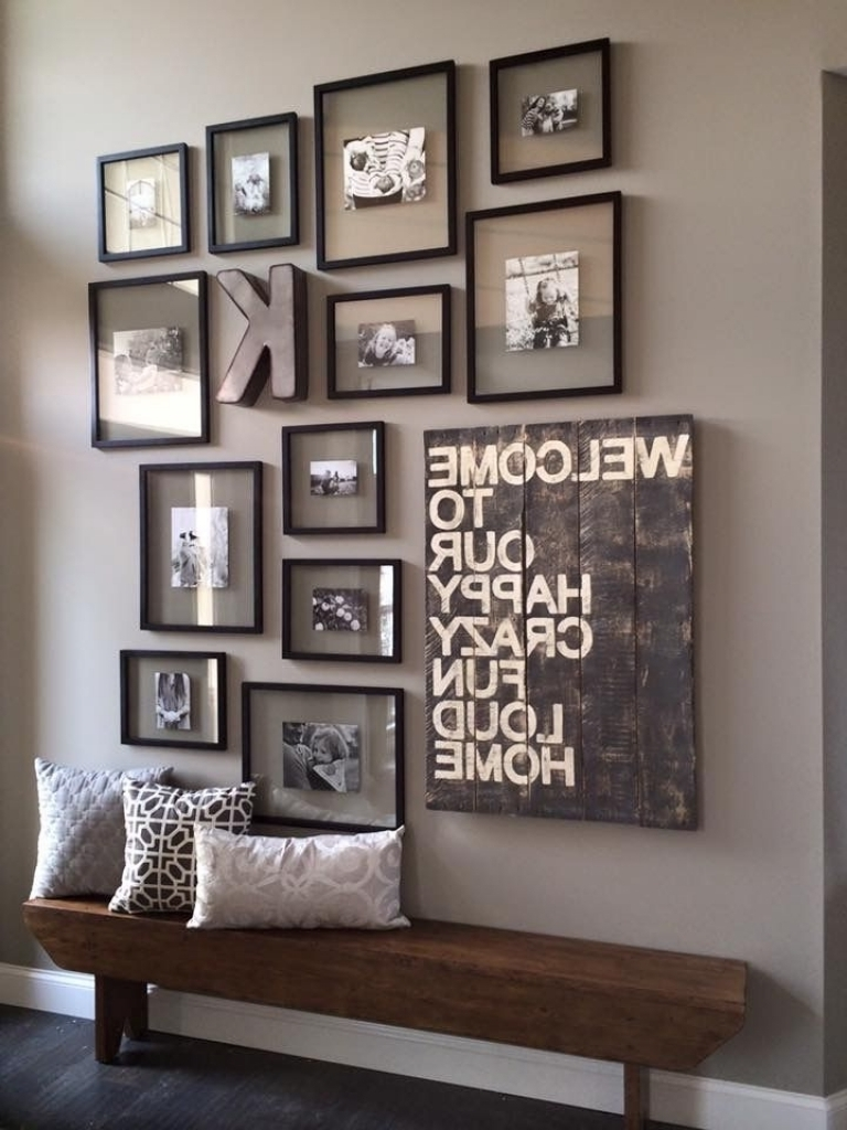 Photo Wall Ideas Hallway • Walls Ideas Intended For Best And Newest Wall Art For Large Walls (View 9 of 15)