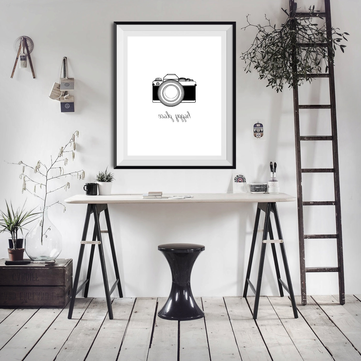 Photography Wall Art Throughout 2018 Happy Place Camera Photography Photographer Shooting Word Quote (View 10 of 15)