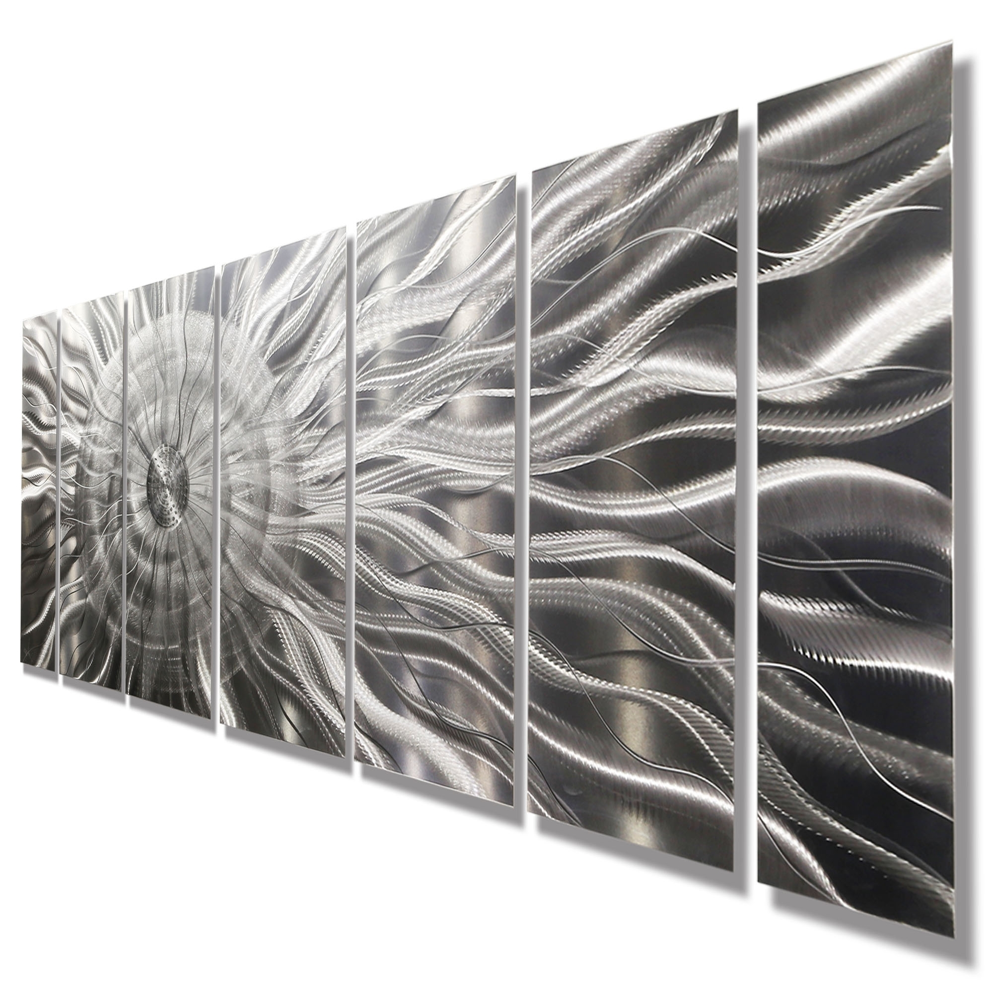 Photon Xl – Extra Large Modern Abstract Silver Corporate Metal Inside Latest 3d Wall Art Etsy (View 7 of 15)