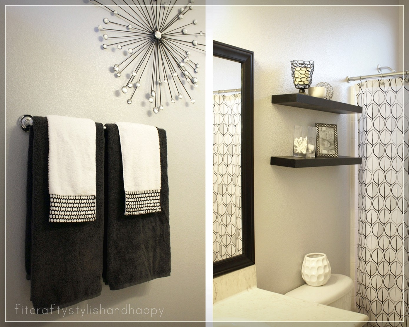 Picturesque Bathroom Wall Decor Modern Farmhouse Makeover Inside Popular Shower Room Wall Art (View 10 of 15)